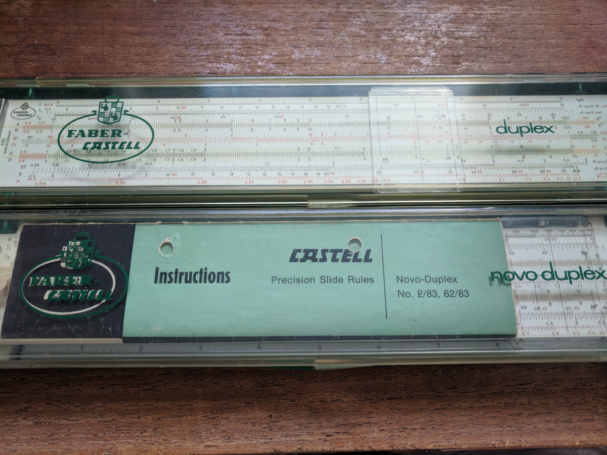 Slide rules in cases